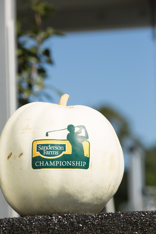 Pumpkin with Sanderson Farms Championship Logo
